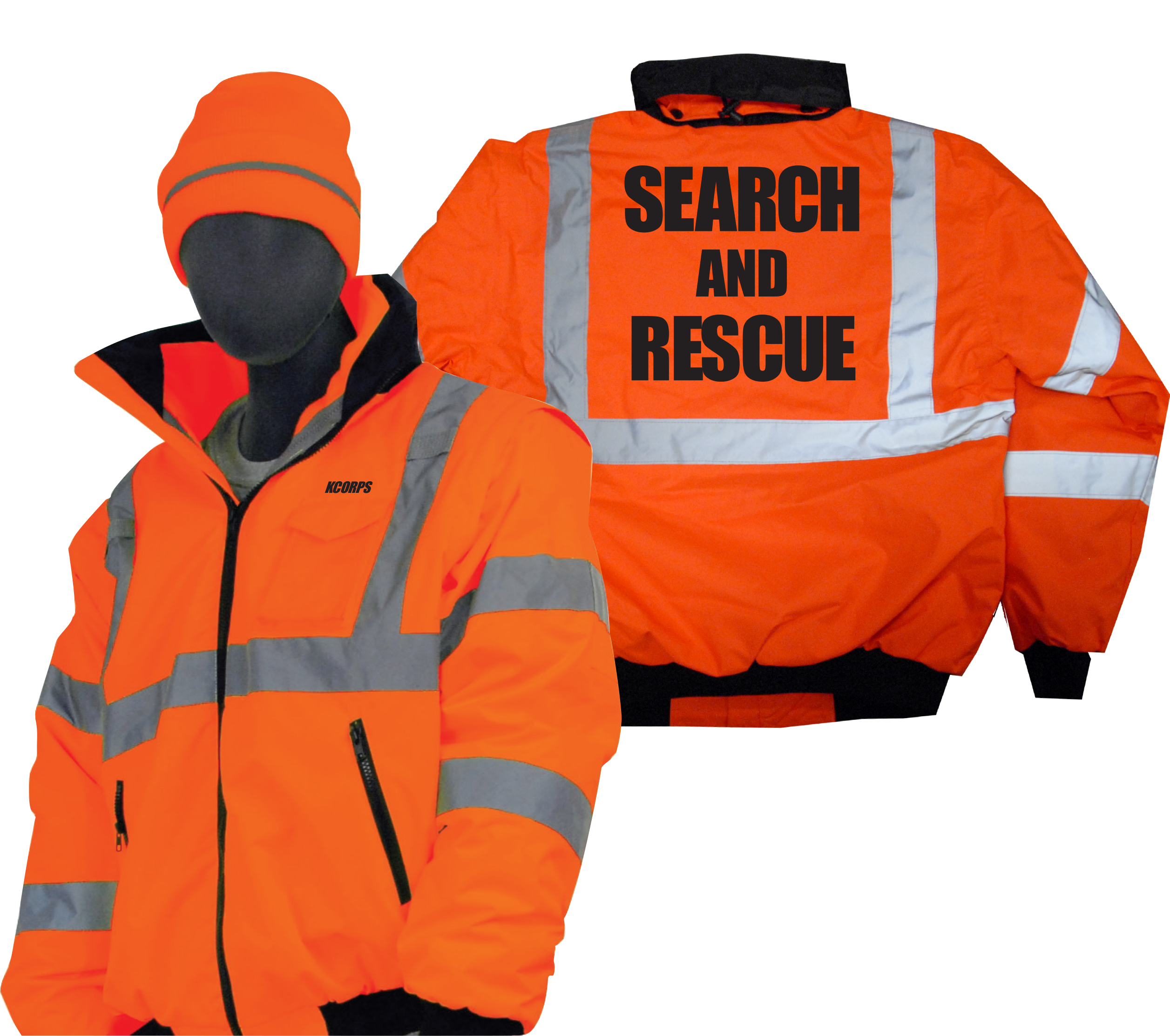 sarwear com search and rescue waterproof hi vis winter bomber